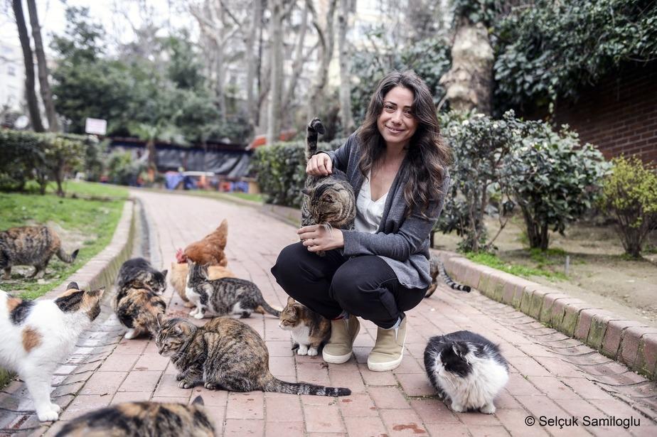 """Photo de Ceyda Torun, réalisatrice du film """"Kedi, des chats et des hommes"""""""